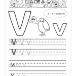 V Tracing Worksheet | Printable Worksheets And Activities