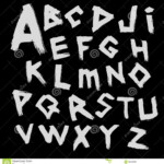 Vector Alphabet. Font Writtenwith A Wide Brush In The