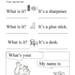 What Is It? What's Your Name? Trace And Copy - English Esl