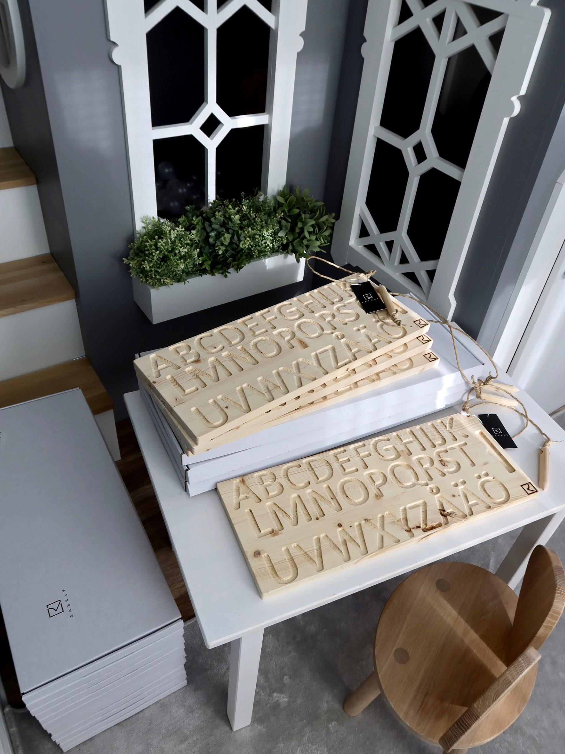 Wooden Alphabet Finger Tracing Board Junior