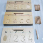 Wooden Alphabet Tracing Boards Set - Pre Writing Skills