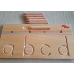 Wooden Alphabet Tracing - Lowercase A-Z Tracing Boards - Pre Writing Skills