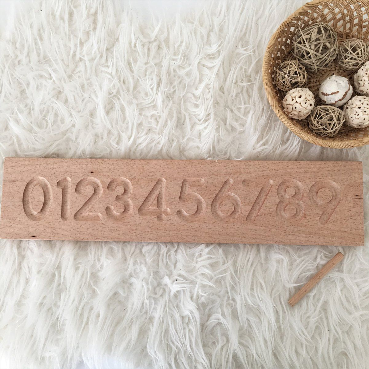 Wooden Number Tracing Board - Montessori Learning Resource