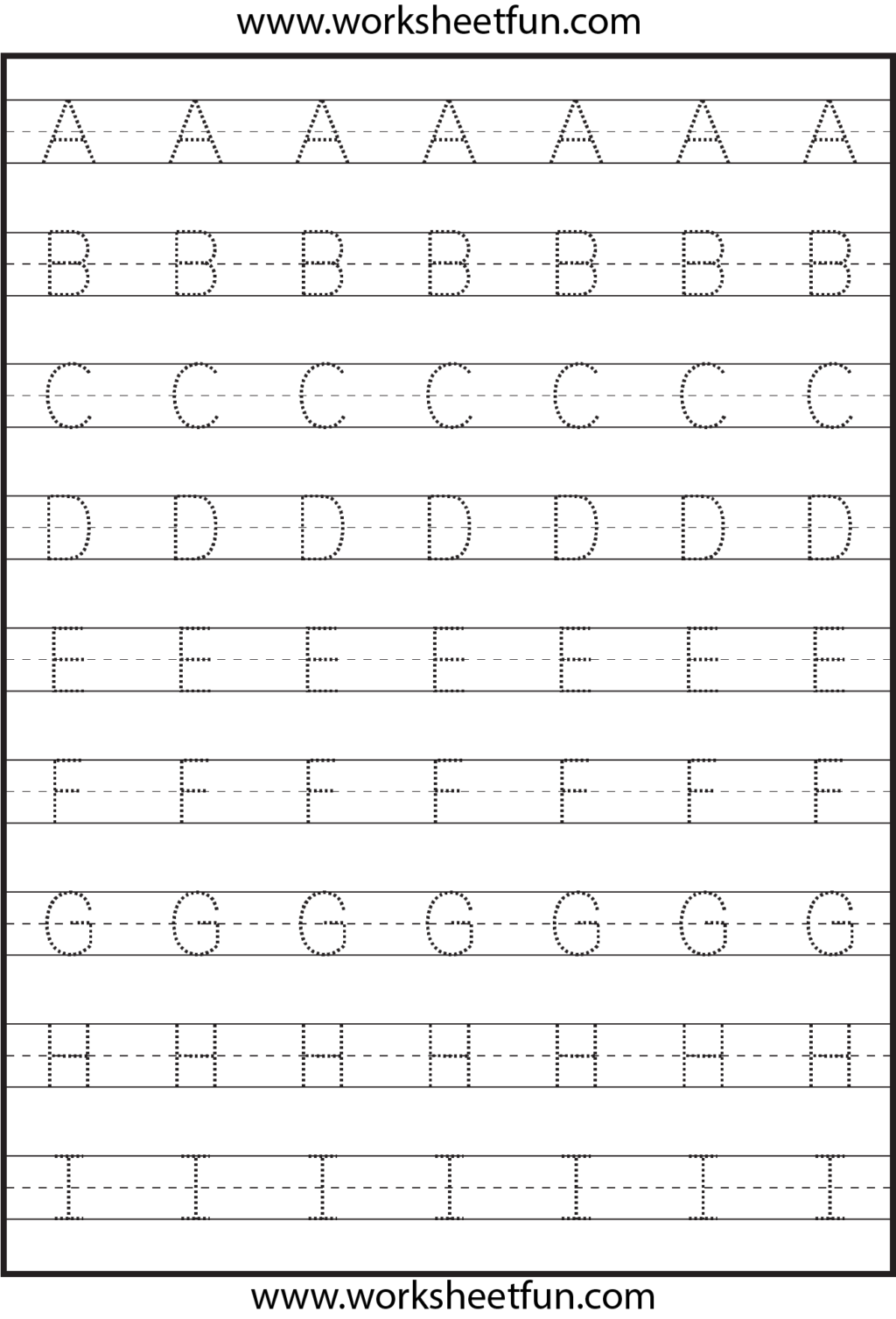 Worksheet ~ Astonishing Alphabet Tracing Practice Sheets