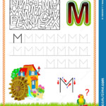 Worksheet For Tracing Letters. Find And Paint All Letters M