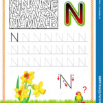 Worksheet For Tracing Letters. Find And Paint All Letters N
