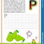 Worksheet For Tracing Letters. Find And Paint All Letters P