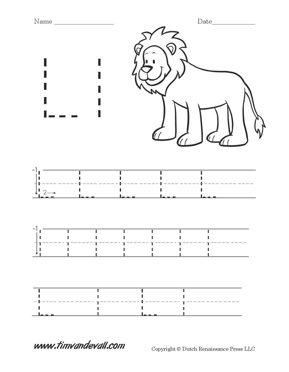 Worksheet Letter L Preschool | Kids Activities