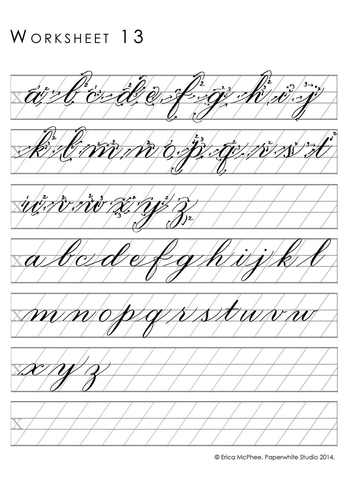 Worksheet13 (1200×1650) | Cursive Writing Worksheets
