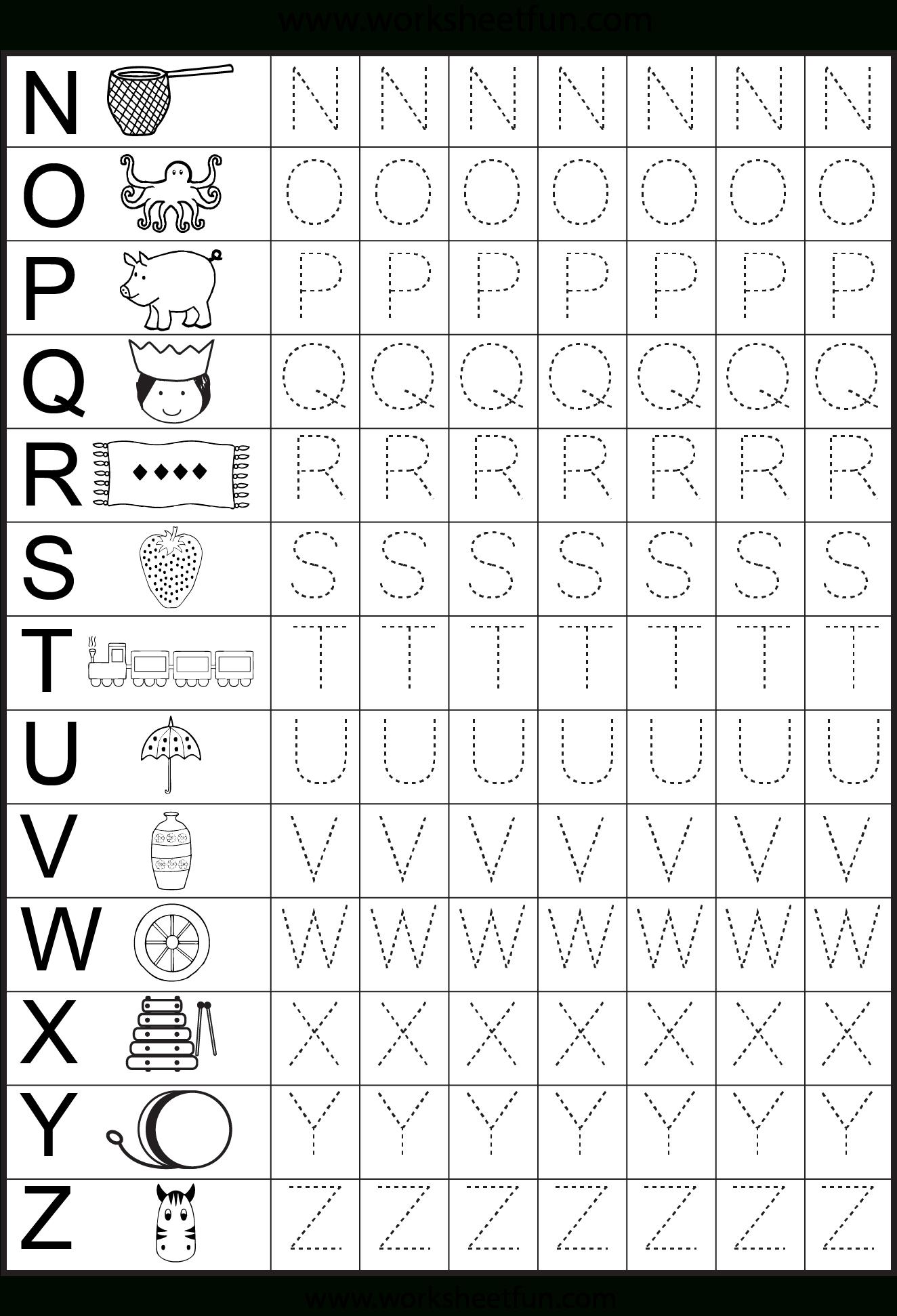 Worksheets For Kindergarten – Alphabet Tracing | Preschool