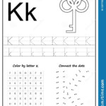 Writing Letter K. Worksheet. Writing A-Z, Alphabet