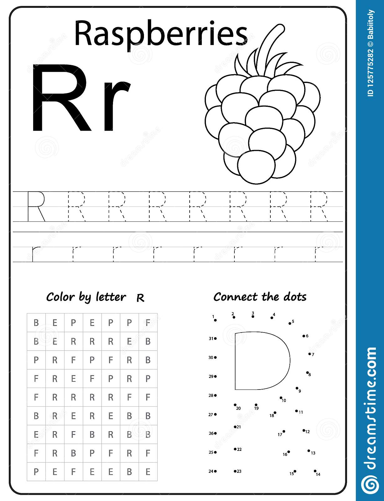 Writing Letter R. Worksheet. Writing A-Z, Alphabet