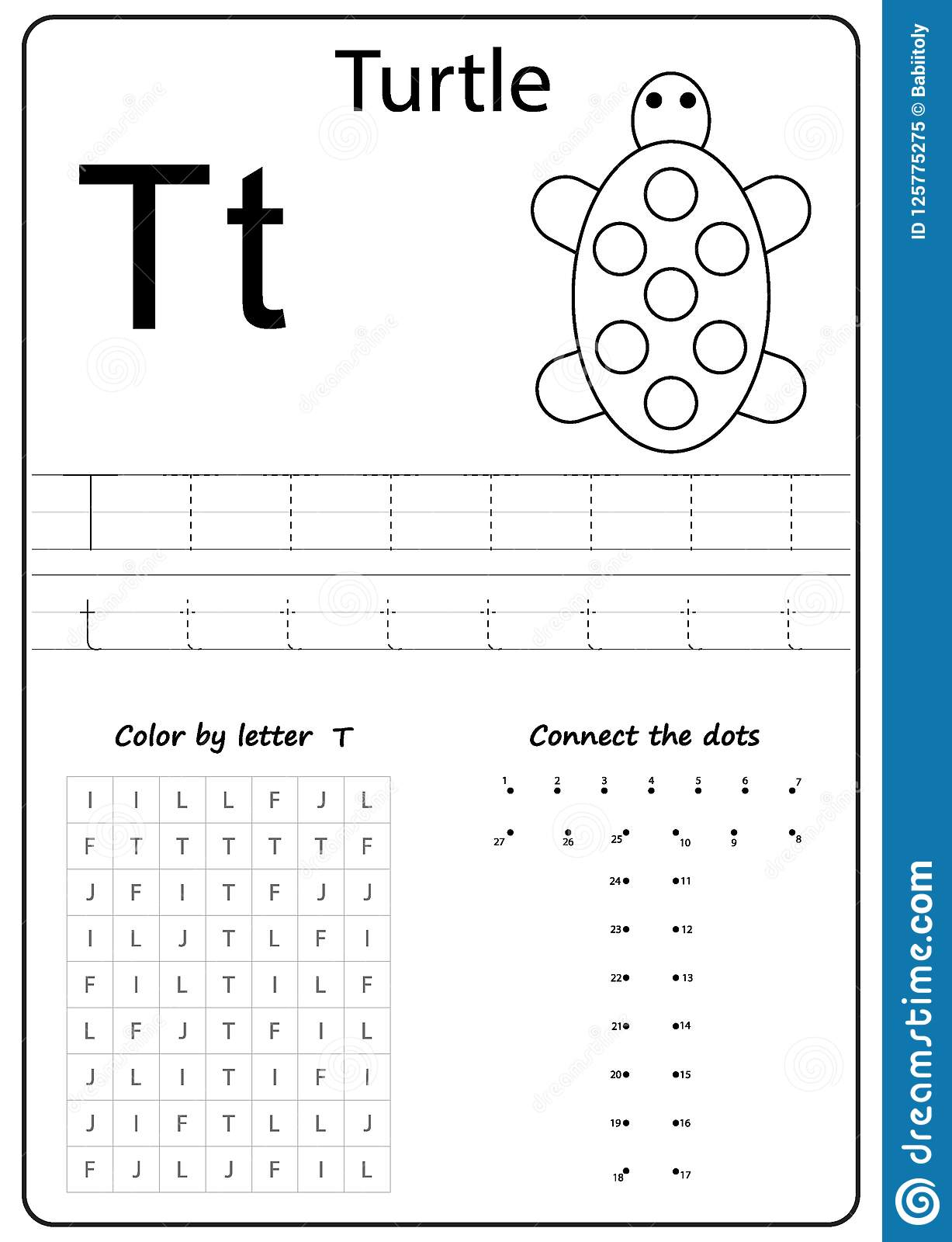 Writing Letter T. Worksheet. Writing A-Z, Alphabet