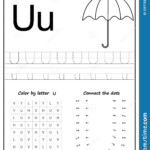 Writing Letter U. Worksheet. Writing A-Z, Alphabet