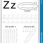 Writing Letter Z. Worksheet. Writing A-Z, Alphabet