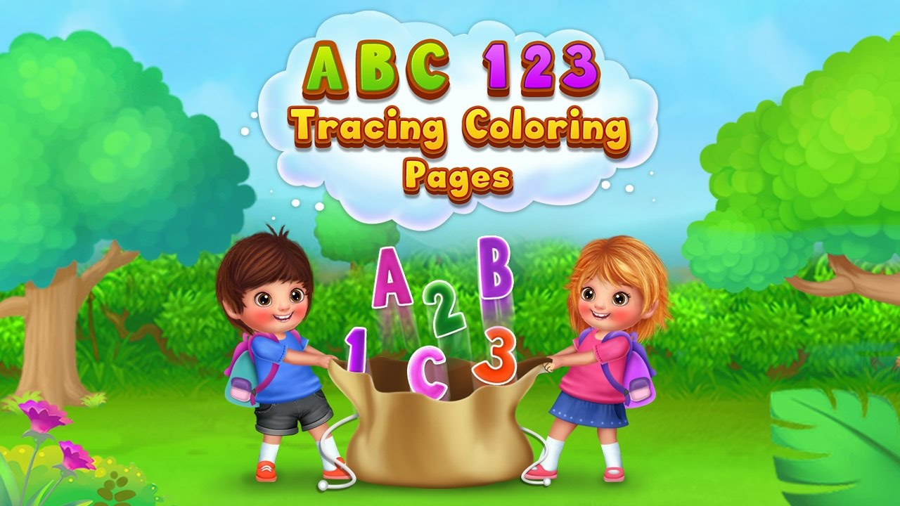 Yasminemarket | Download : Abc 123 Tracing Coloring Pages
