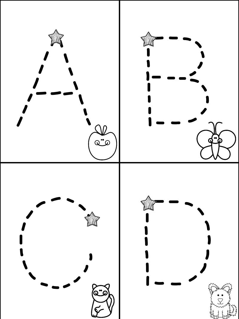 Free Traceable Alphabet Minibook---Mrs. Christy's Classroom