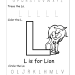 Kindergarten Worksheet Tracing L | Printable Worksheets And