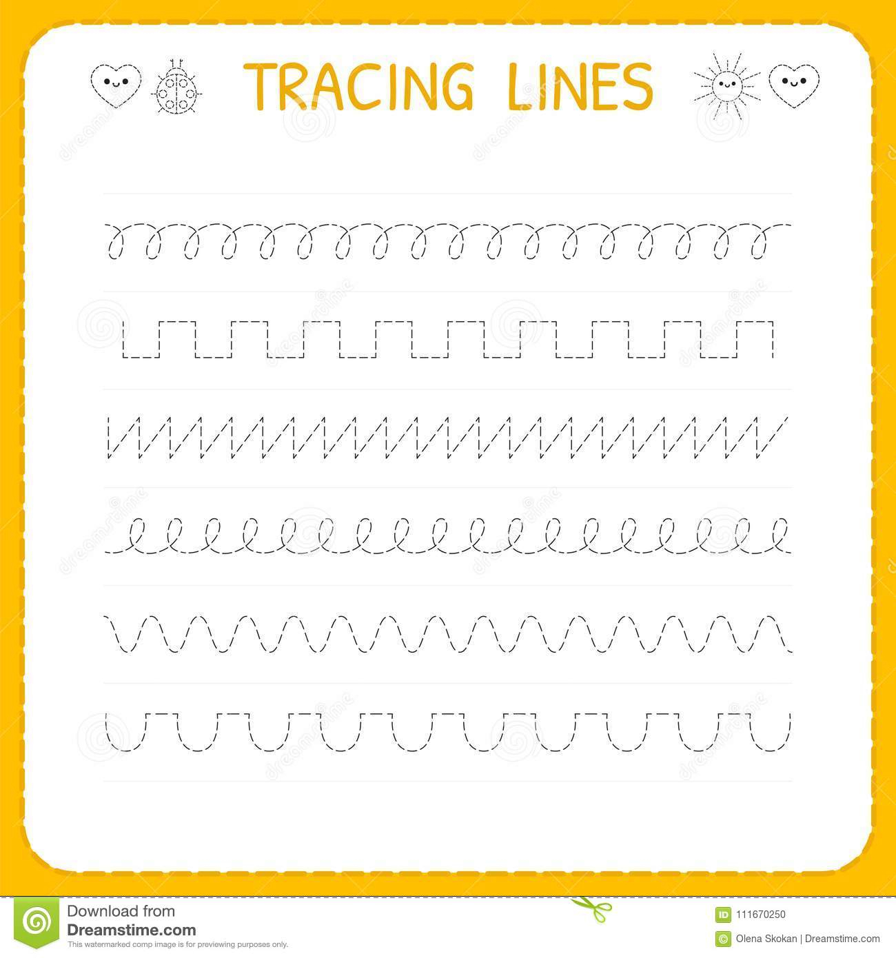 School Sparks Worksheets Cutting And Tracing | Printable