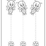 Straight Line Tracing Preschool School Sparks Worksheets
