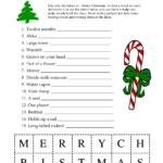 5 Images Of Free Printable Christmas Word Games | Printable