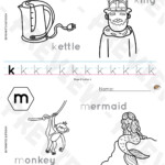 A To Z Reproducible Tracing Worksheets With Outline Pictures