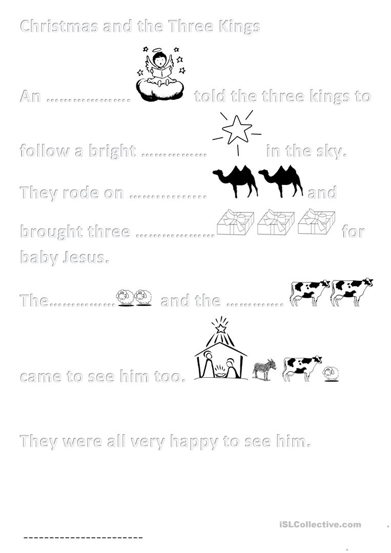 Activity Sheet Christmas For Primary 4 - English Esl