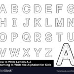 Alphabet Tracing Letters Step Step Royalty Free Vector Image