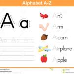 Alphabet Tracing Worksheet Stock Vector. Illustration Of