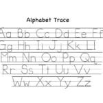 Alphabet Tracing Worksheets For Kindergarten Staggering