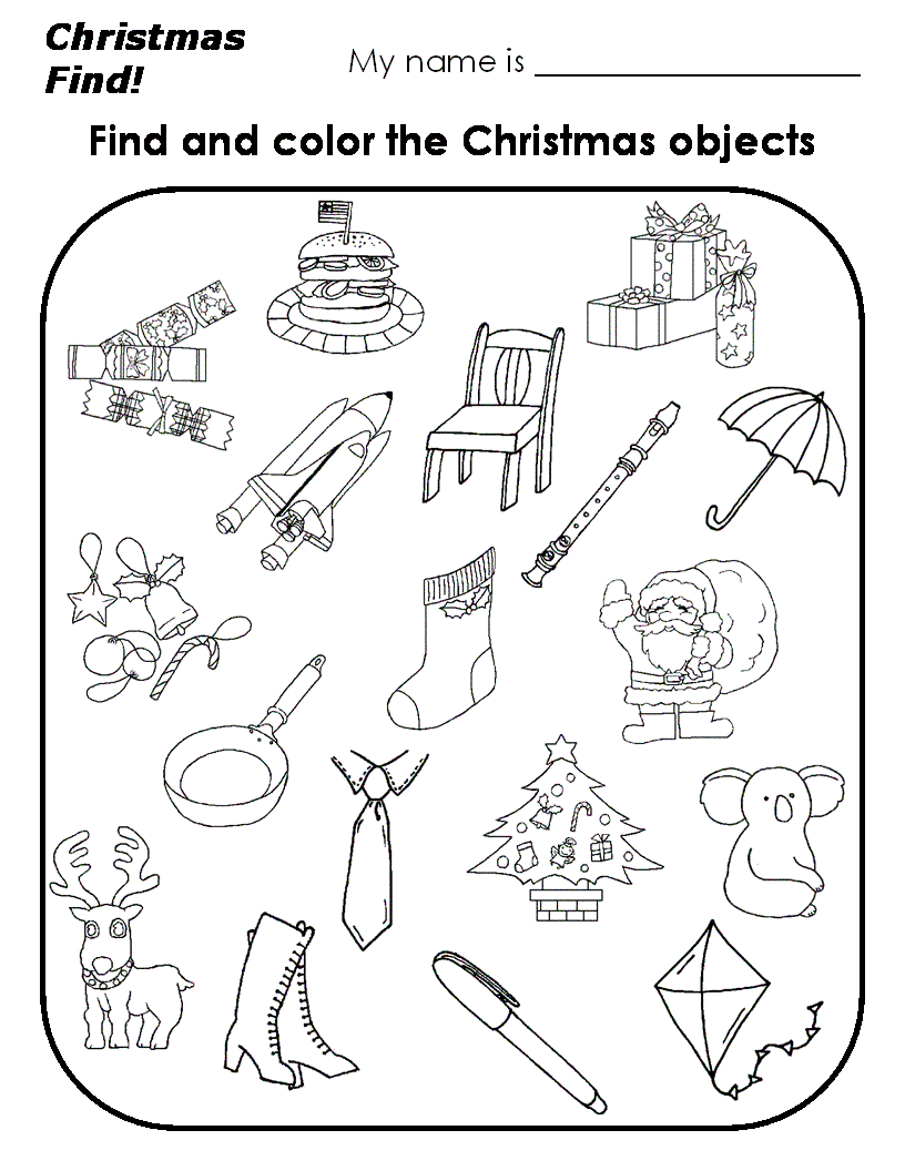 Astonishing Christmas Worksheets For Kindergarten