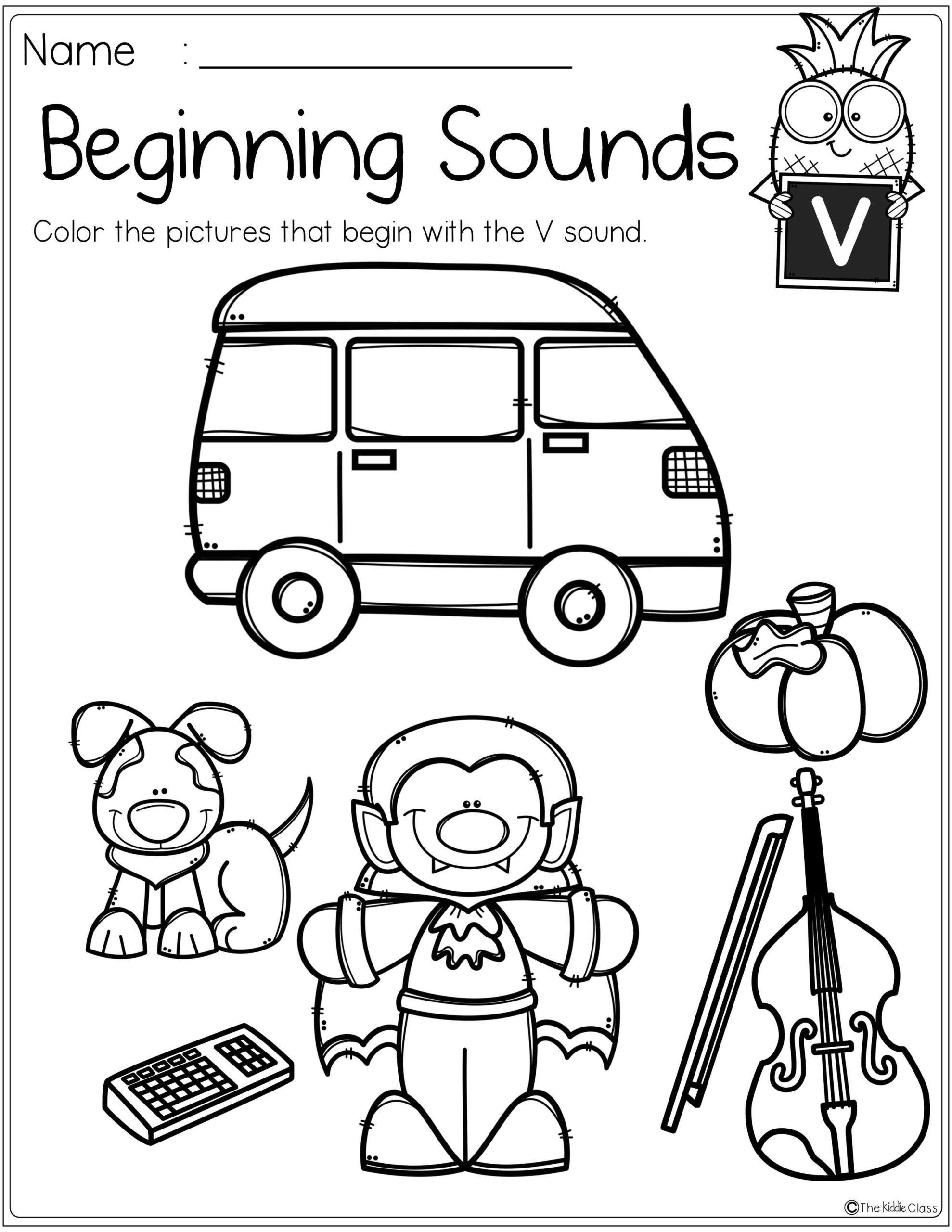 Beginning Sounds Christmas Worksheets | Printable Worksheets