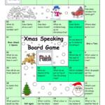 Board Game - Christmas & Santa - English Esl Worksheets For