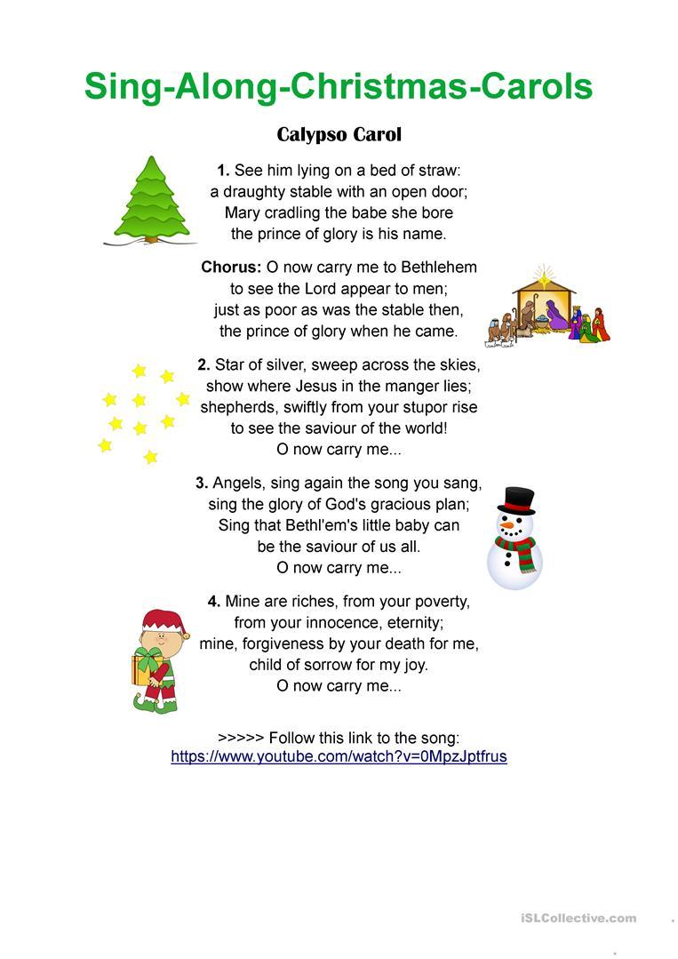 Calypso Carol - Sing-Along Christmas Songs - English Esl