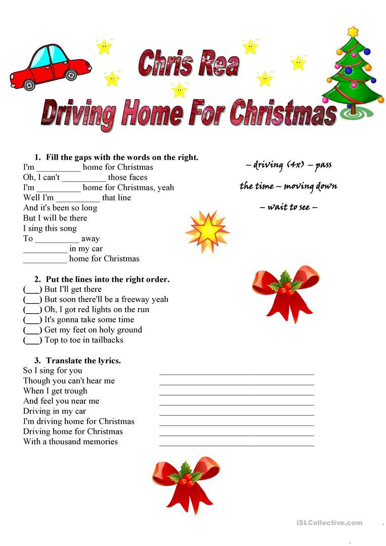 Chris Rea - Driving Home For Christmas - English Esl