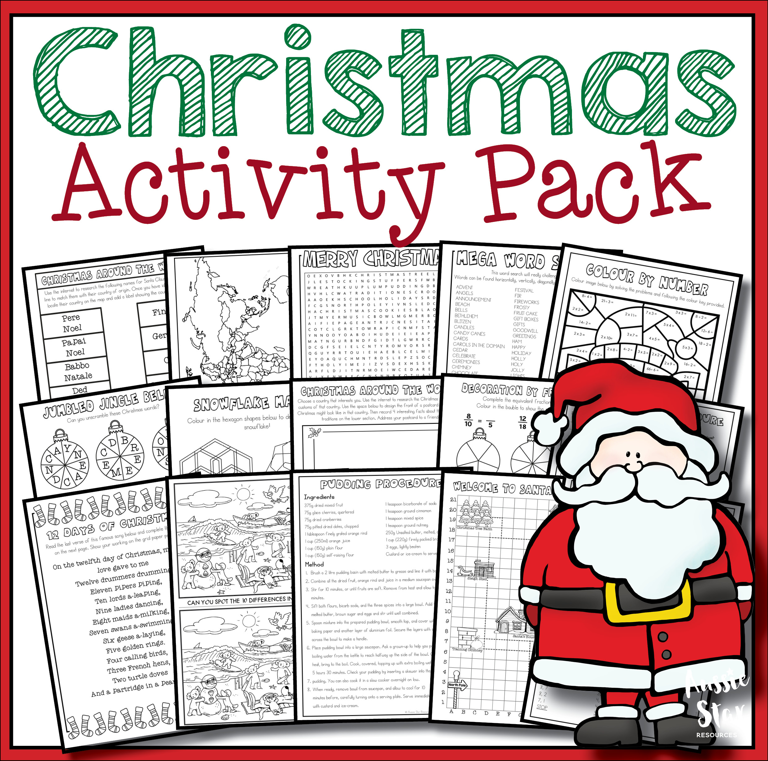 Christmas Activity Pack - 18 Fun Activities For Grades 5-6