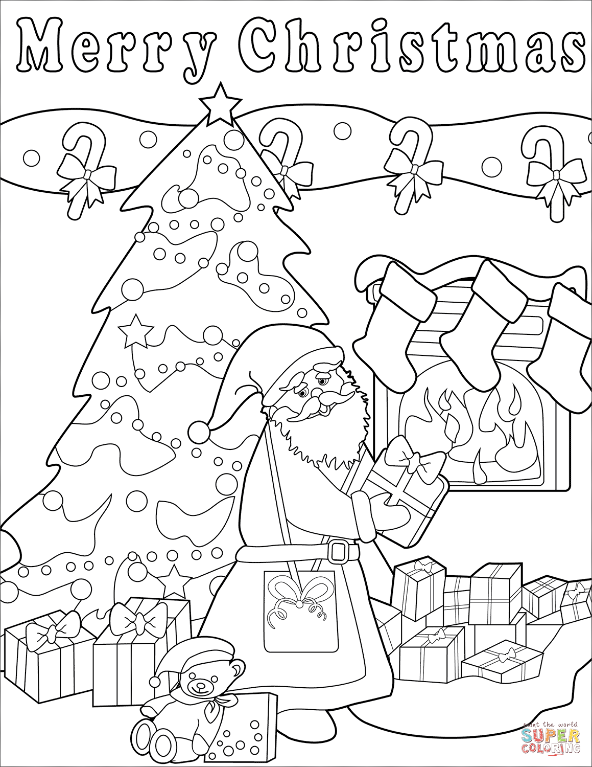 Christmas Around The World Coloring Pages Worksheets
