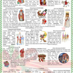 Christmas Around The World Worksheet - Free Esl Printable