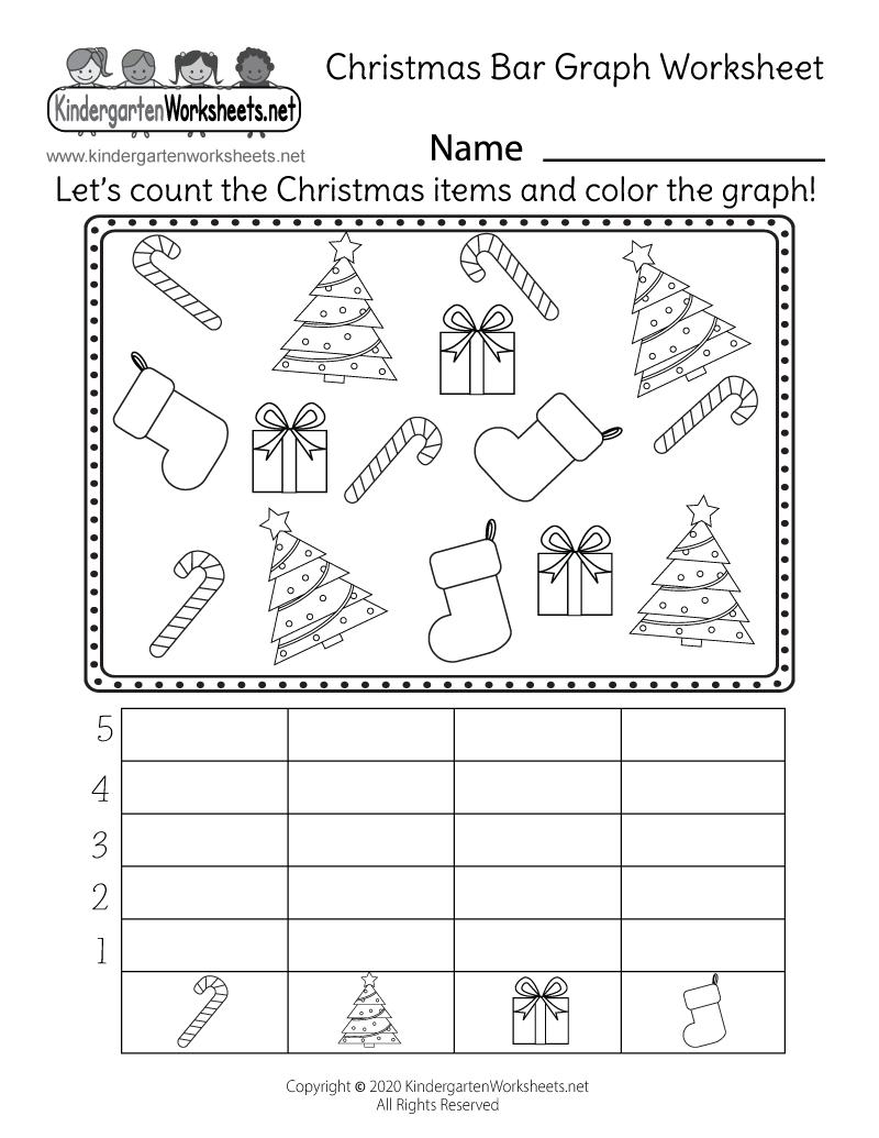 Christmas Bar Graph Worksheet - Free Printable, Digital, & Pdf