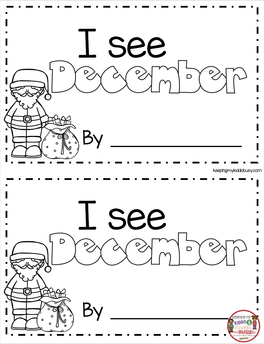 Christmas Book - Freebies - Kindergarten And First Grade