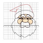 Christmas Cartesian Art Santa (D) Christmas Math Worksheet