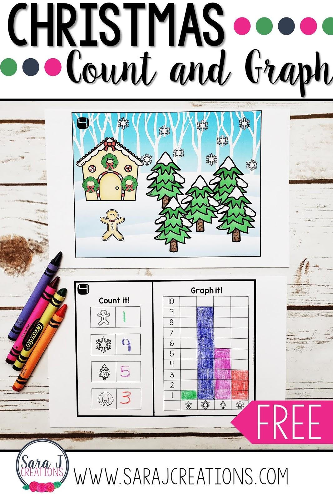 Christmas Count And Graph | Sara J Creations