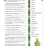 Christmas Definitions (Key Included) | Christmas Worksheets