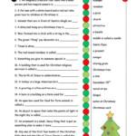 Christmas Definitions (Key Included) Worksheet - Free Esl