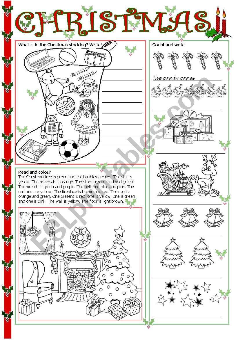 Christmas - Esl Worksheettecus