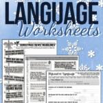 Christmas Figurative Language Worksheets | Ela Lesson Plans