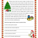 Christmas In Reading Comprehension Learn English Worksheets