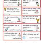 Christmas Jokes Worksheet - Free Esl Printable Worksheets