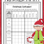Christmas Math Worksheets For Fifth Grade Kidsmathgames
