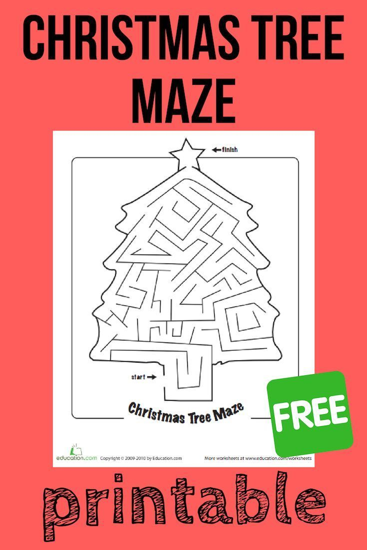 Christmas Maze   Worksheet   Education   Christmas Maze